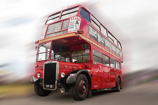 Old Red London Bus by Tom Conway