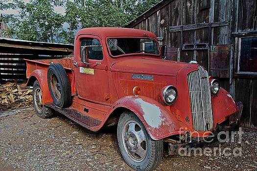Old Red Dodge Truck by Anthony Jones