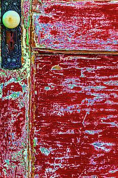 Old Red Door With Door Knob by Garry Gay