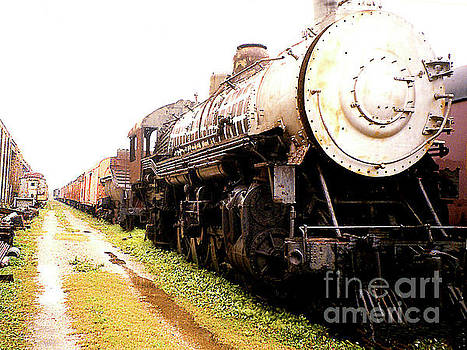 OLd Retired Steam Train - New Orleans LA by Merton Allen
