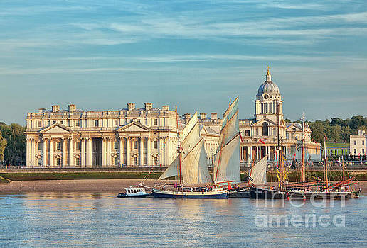 Sunset at the Old Royal Naval College, Greenwich by David Bleeker