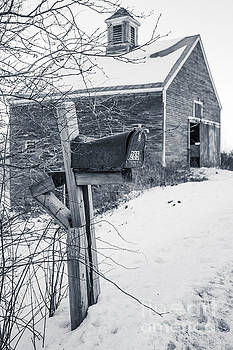 Edward Fielding - Old Rural Mailbox in front of an old barn