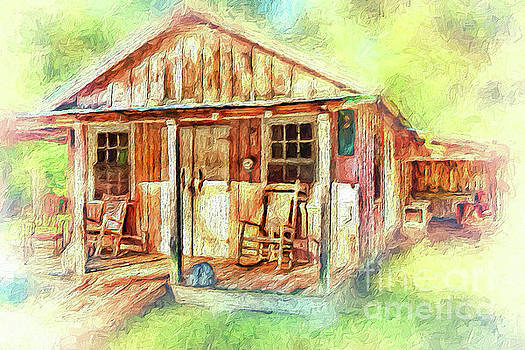 Dan Carmichael - Old Rustic House in the Mountains AP