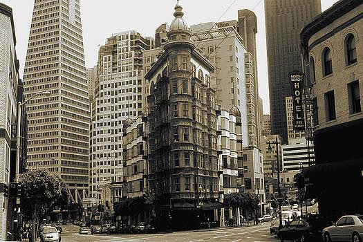 Art America Gallery Peter Potter - Old San Francisco Photo - Columbus Avenue