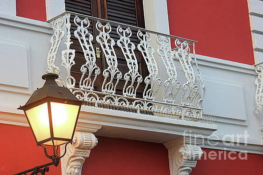 Old San Juan Balcony by The Art of Alice Terrill