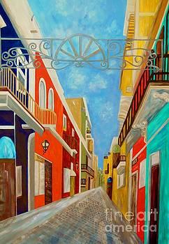 Old San Juan - Painting by Eloise Schneider Mote