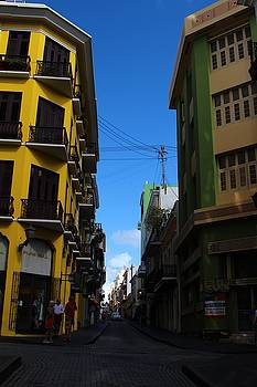 Old San Juan Puerto Rico Downtown on the Corner by Robert Smith