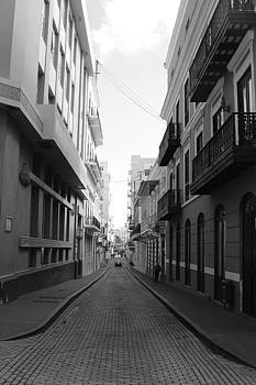 Old San Juan Puerto Rico Downtown on the street by Robert Smith