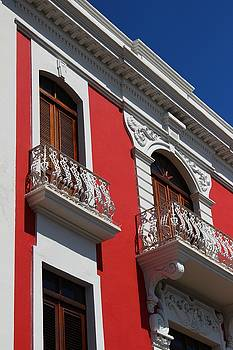 Old San Juan Puerto Rico Downtown Red by Robert Smith