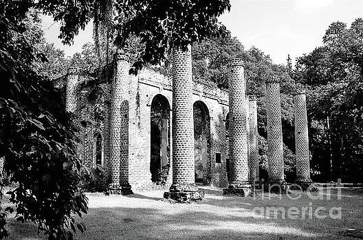 Old Sheldon Church Ruins Infrared by Dale Powell