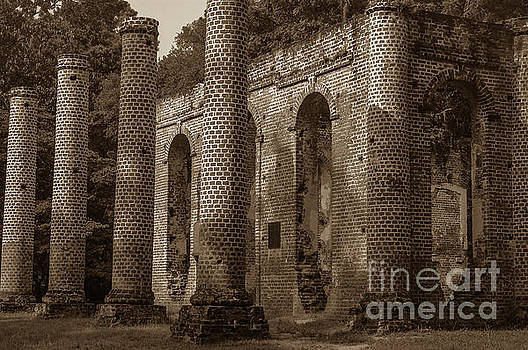 Dale Powell - Old Sheldon Church Ruins Passage of Time Sepia