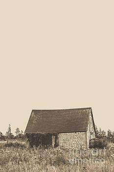 Old Shingled Farm Shack by Edward Fielding