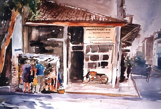 Old shop in Athens by George Siaba