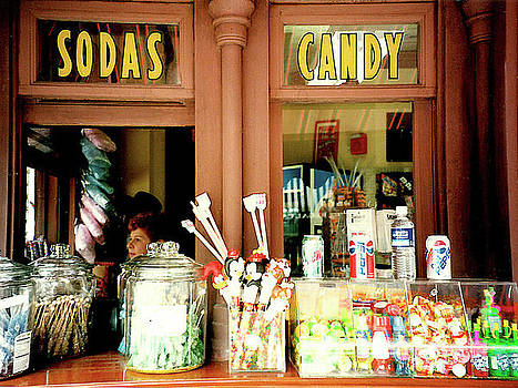Old Soda and Candy Store - ca. 1950s by Merton Allen
