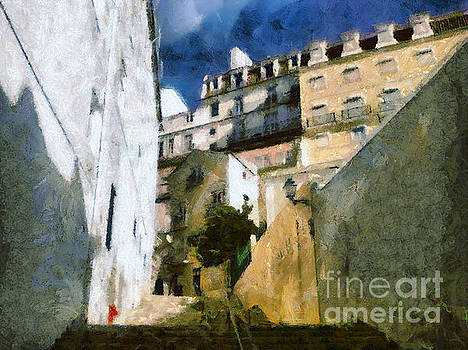 Dimitar Hristov - Old stairs in Lisbon