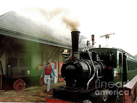 Old Steam Train at Shelburne Vermont Station by Merton Allen