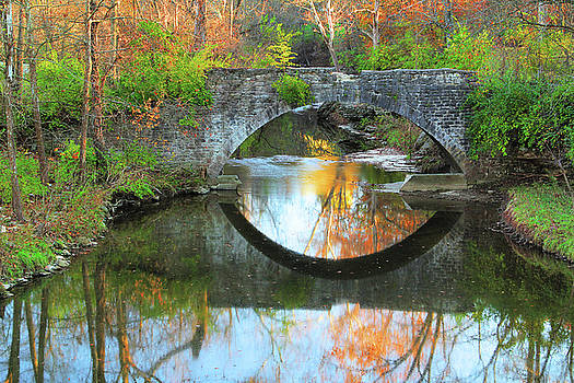 Old Stone Bridge Over Fountain Creek 1 by Greg Matchick