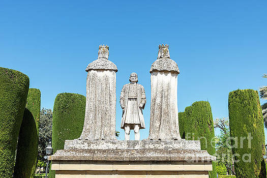 Old Stone Statues of the Christian Kings  in Cordoba Spain by Compuinfoto