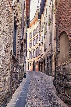 Old streets of Bergamo by Alfio Finocchiaro