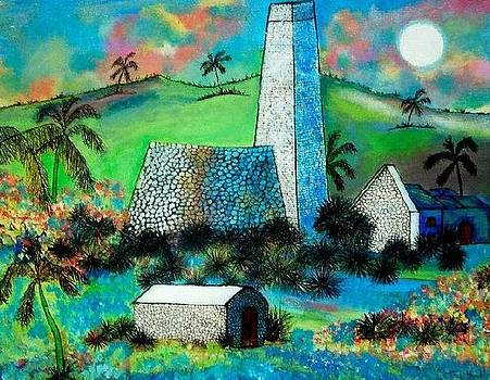 Old Sugar Mill St Croix by Ted Hebbler