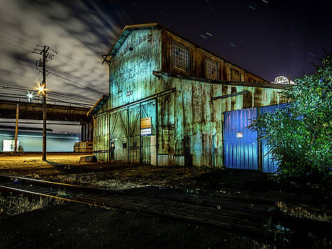 Old Tacoma Industrial Building Light Painted by Rob Green