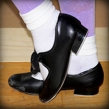 Pedro Cardona Llambias - old tap dance shoes with white socks and wooden floor