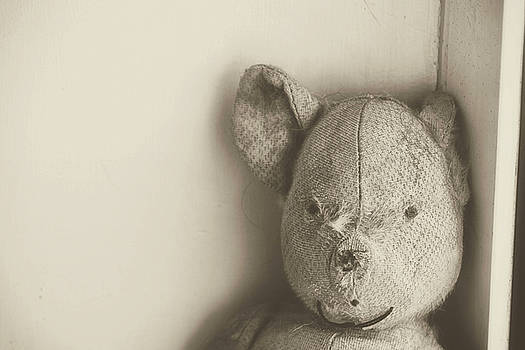Old teddy bear by Frances Lewis