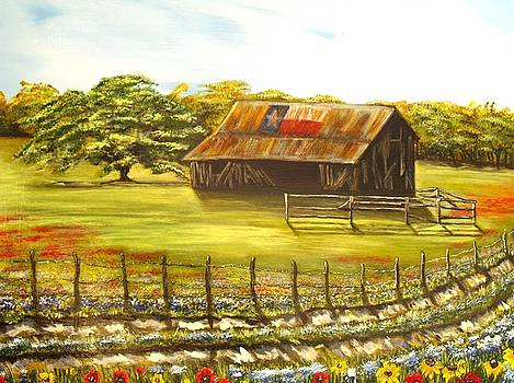 Old Texas Barn by Melissa Torres