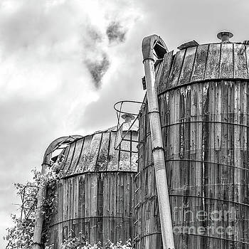 Old Texas Wooden Farm Silos by Edward Fielding