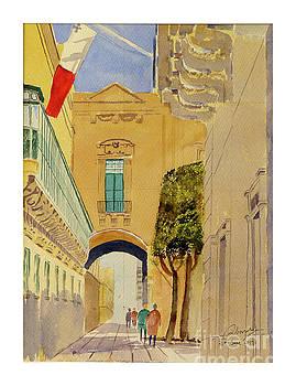 Old Theater Street Valletta by Godwin Cassar