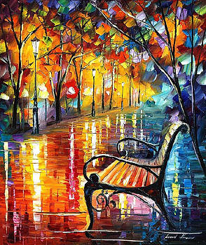 Old Thoughts 3 - PALETTE KNIFE Oil Painting On Canvas By Leonid Afremov by Leonid Afremov