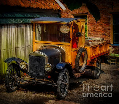 Old Time Classic Ford Truck  by L Wright