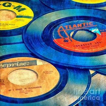 Old Time Rock and Roll 45s Vinyl by Edward Fielding