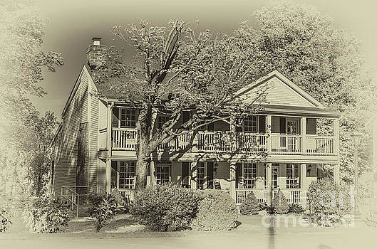 Old Timey Effect On Christopher Columbus Collier House Charlotte Historic Town Square by Photo Captures by Jeffery