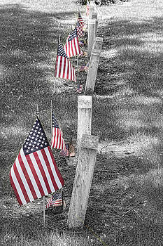 James BO Insogna - Old Tombstones and American Flags
