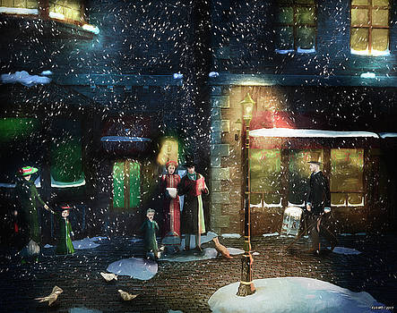Old Town Christmas Eve by Ken Morris