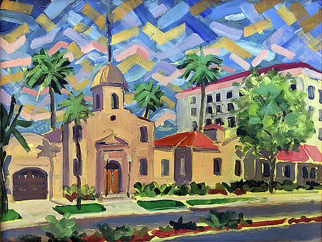 Old Town Hall at Boca Raton by Ralph Papa