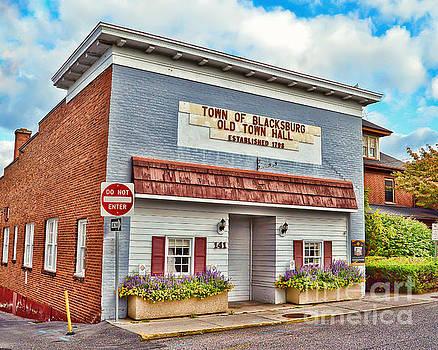 Old Town Hall Blacksburg Virginia Est 1798 by Kerri Farley