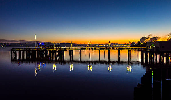 Old Town Pier Blue Hour Sunrise by Rob Green