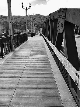 Old Town Temecula Bridge bw by Russell Keating