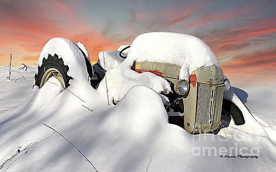 Old Tractor in the Snow by Randy Harris