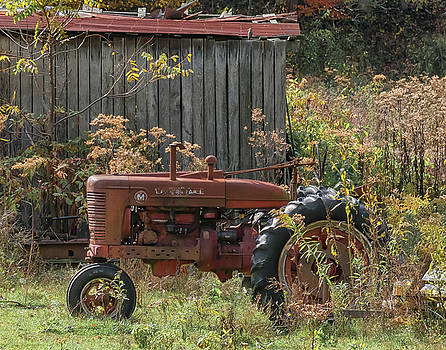 Old Tractor on the Farm. by Richard Kopchock