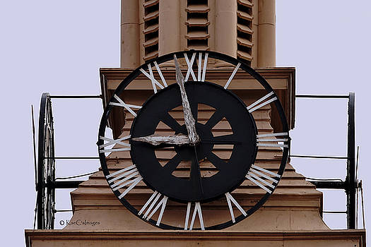 Old Train Depot Clock #2 by Kae Cheatham