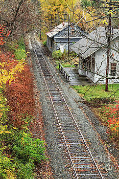 Old Train Station Norwich Vermont by Edward Fielding