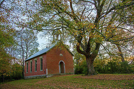 Old Tree And Old Church by Randall Branham