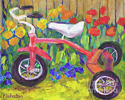 Old Tricycle by Peggy Johnson by Peggy Johnson