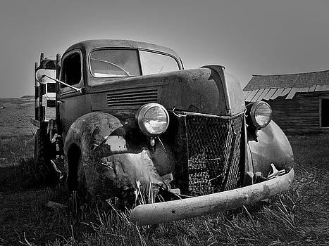 Old Truck at Bodie 1 Blk Wht by Chris Brannen