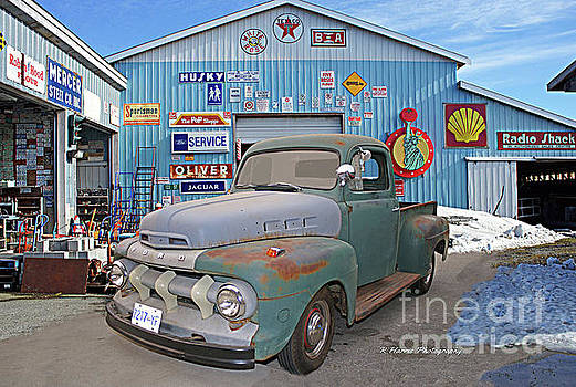 Old Truck at the Garage by Randy Harris