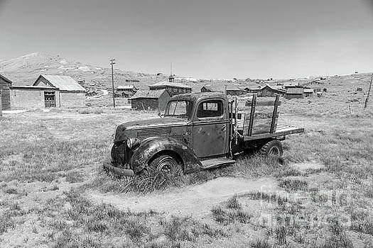 Wingsdomain Art and Photography - Old Truck at The Ghost Town of Bodie California dsc4380bw