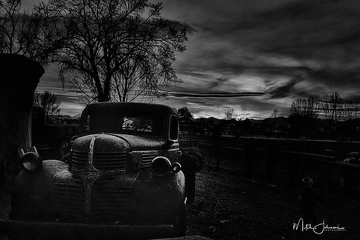Old Truck BW by Mitch Johanson
